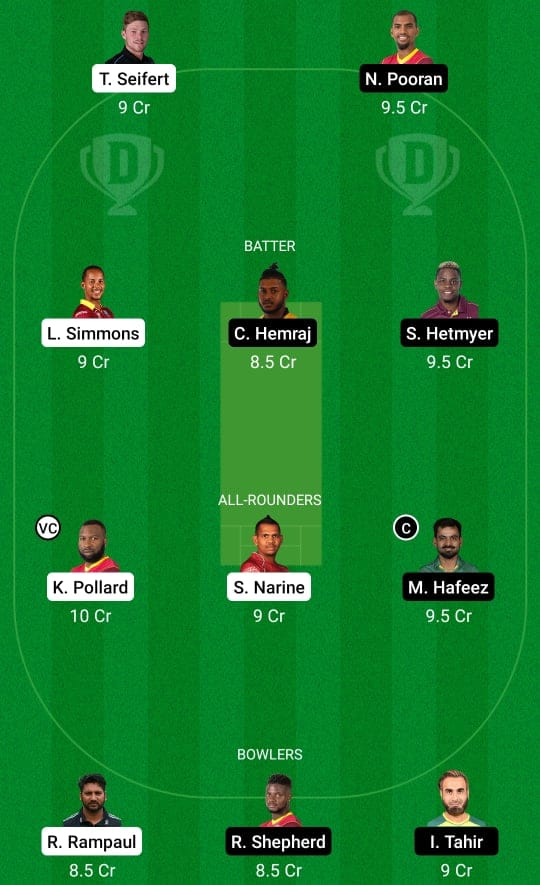 CPL 2021 Match 11: TKR vs GUY Dream11 & Fan2Play Prediction Possible Playing 11 Pitch Report | TKR vs GUY Dream11 Prediction Today | Trinbago Knight Riders vs Guyana Amazon Warriors Key Players | St Kitts Pitch Report