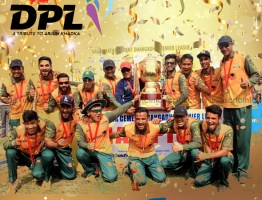Skipper Khadka lifts the trophy as Dhangadhi Chauraha wins the DPL title
