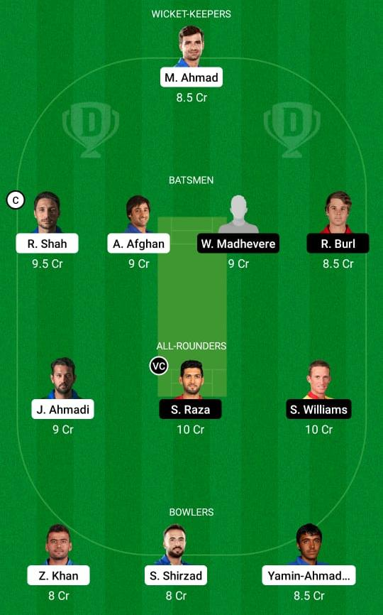 Afghanistan vs Zimbabwe 1st Test Dream11 Prediction Fantasy Cricket Tips Dream11 Team