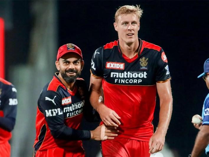 Kyle Jamieson and Virat Kohli participate in the RCB of IPL 2021 (Photo-BCCI)