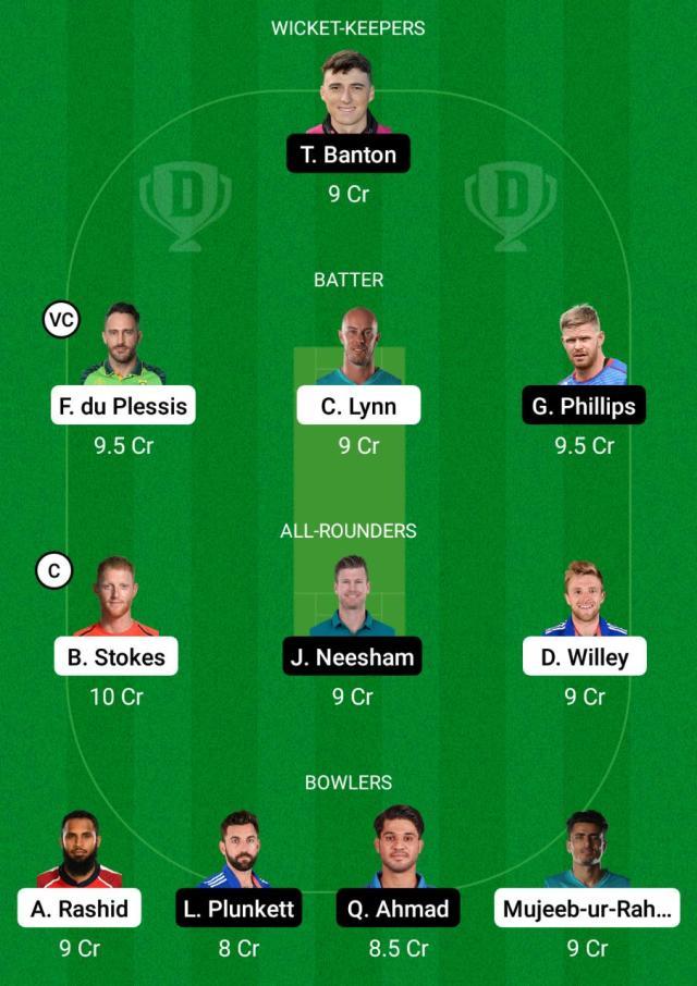 NOS बनाम WEF Dream11 भविष्यवाणी काल्पनिक क्रिकेट युक्तियाँ Dream11 टीम सौ पुरुष