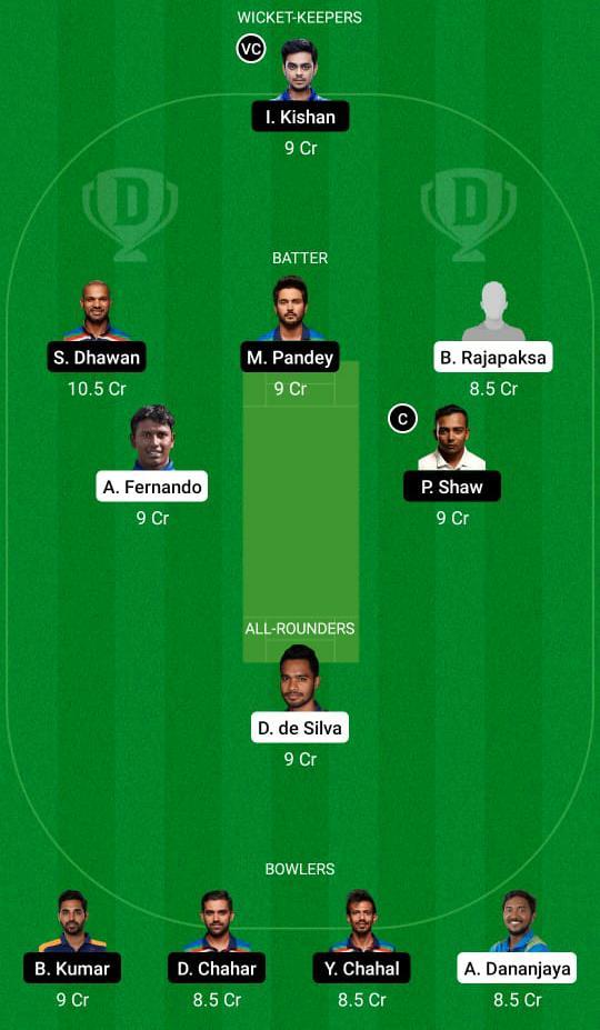 श्रीलंका बनाम भारत ड्रीम11 प्रेडिक्शन फैंटेसी क्रिकेट टिप्स ड्रीम11 टीम