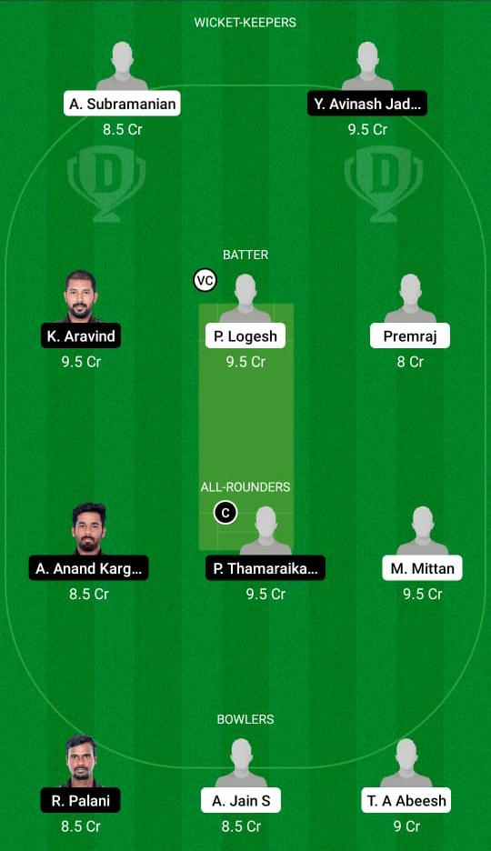 SHA vs TUS Dream11 Prediction Fantasy Cricket Tips Dream11 Team BYJU's Pondicherry T20