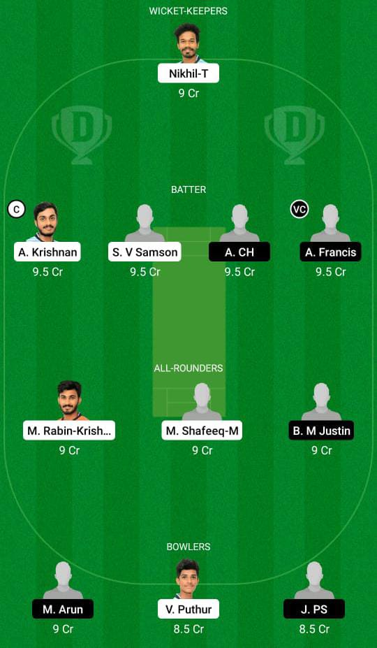 JRO vs ENC Dream11 predicts fantasy cricket skills Dream11 Team Kerala Club Championship