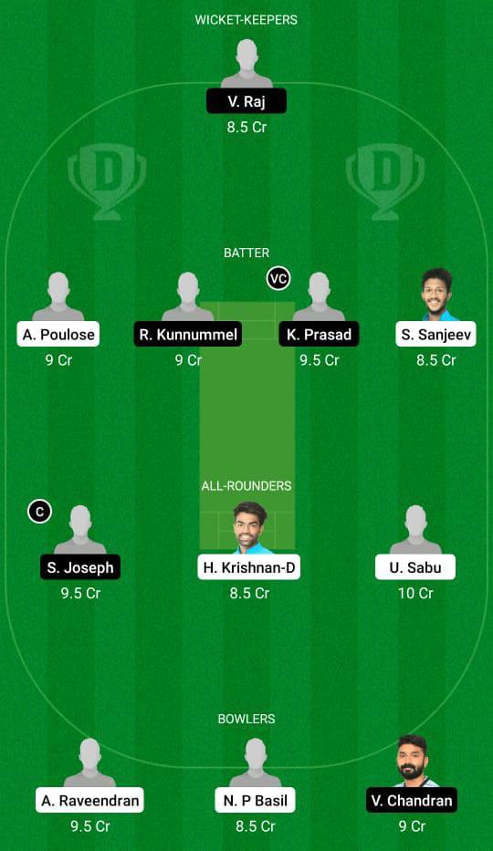 एमआरसी बनाम एमटीसी ड्रीम11 प्रेडिक्शन फैंटेसी क्रिकेट टिप्स ड्रीम11 टीम केरल क्लब चैंपियनशिप