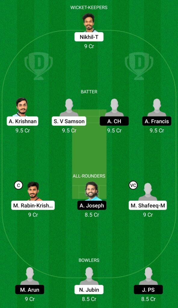 जेआरओ बनाम ईएनसी ड्रीम11 प्रेडिक्शन फैंटेसी क्रिकेट टिप्स ड्रीम11 टीम केरल क्लब चैंपियनशिप