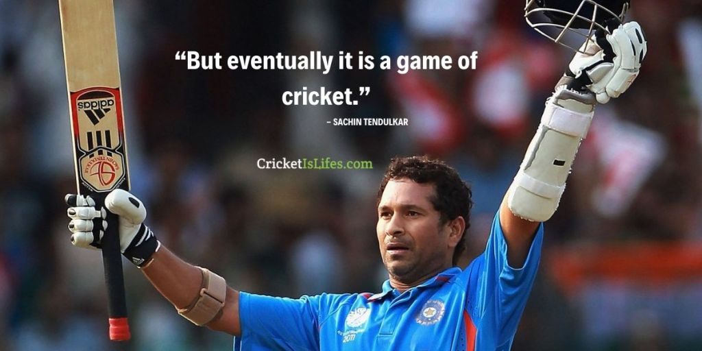 But eventually it is a game of cricket.