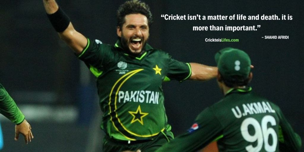 Cricket isn't a matter of life and death. it is more than important.