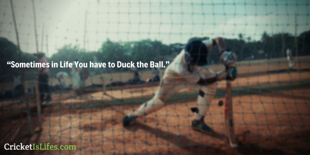 Sometimes in Life You have to Duck the Ball.