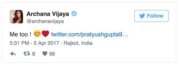 Archana Vijaya tweet