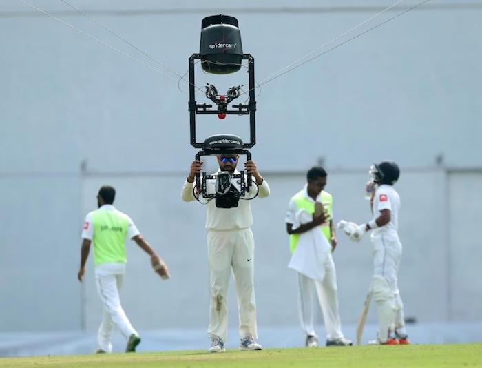 Rohit Sharma playing spider cam