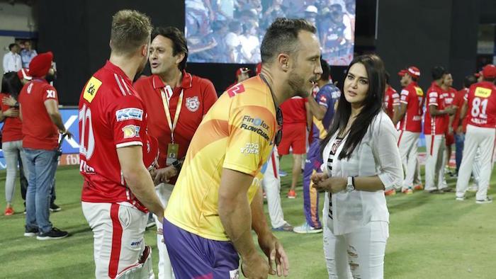 Preity Zinta, Faf Du Plessis, IPL