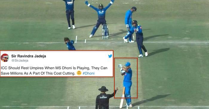 MS Dhoni DRS call vs Sri Lanka