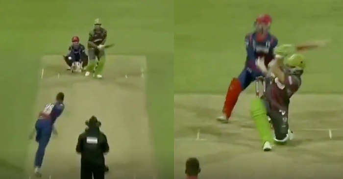 AB de Villiers switch-hit