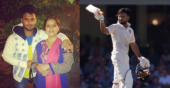 Rishabh Pant with his mother