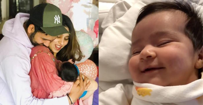 WATCH: Rohit Sharma performs 'Daddy duties' for baby Samaira