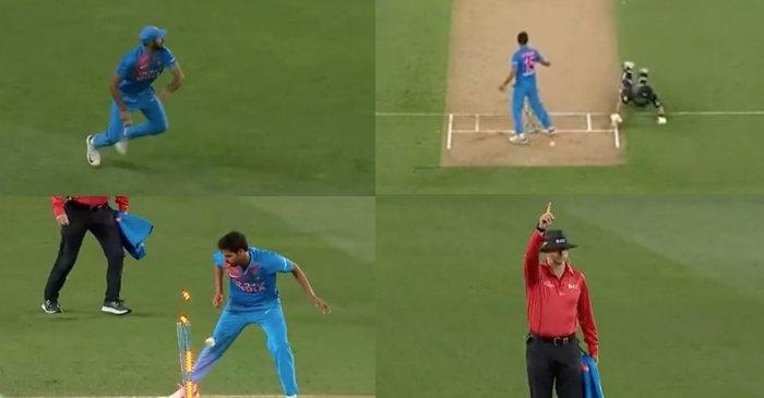 WATCH: Vijay Shankar's rocket throw to run-out Ross Taylor