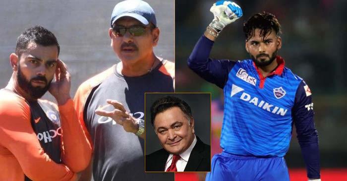 Rishi Kapoor, Virat Kohli, Ravi Shastri, Rishabh Pant