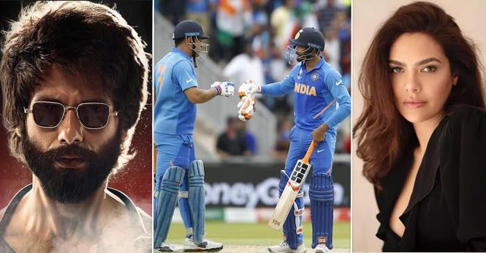 Shahid Kapoor, Esha Gupta, MS Dhoni, Ravindra Jadeja