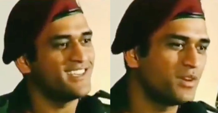 MS Dhoni singing song