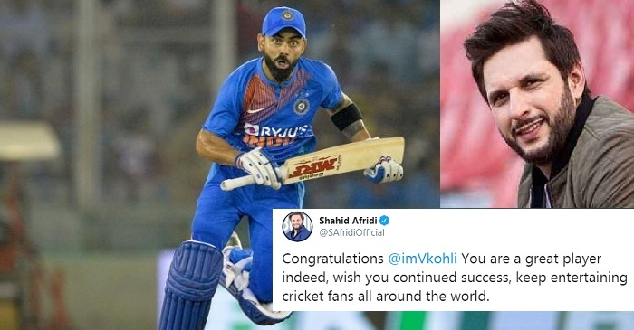 India vs South Africa: Shahid Afridi responds to ICC's congratulatory tweet for Virat Kohli after 2nd T20I