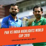 india vs pakistan cwc 2019 highlights
