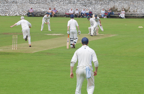 cricket match at Settle Cricket Club