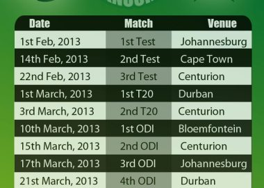 Pakistan Vs South Safrica Fixtures 2013
