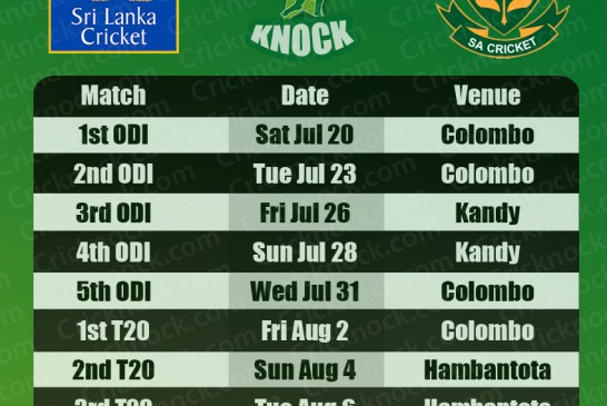 Sri Lanka vs South Africa 2013 Cricket Fixtures