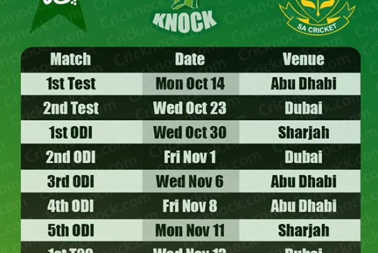 Pakistan vs South Africa Schedules 2013