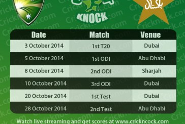 Pakistan vs Australia 2014 Fixtures