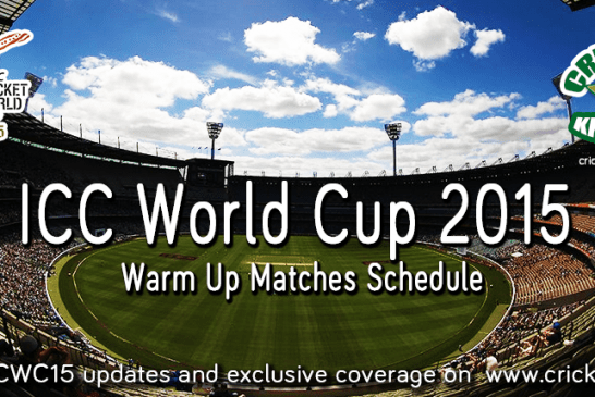 ICC Cricket World Cup 2015 Warm Up Matches Fixtures