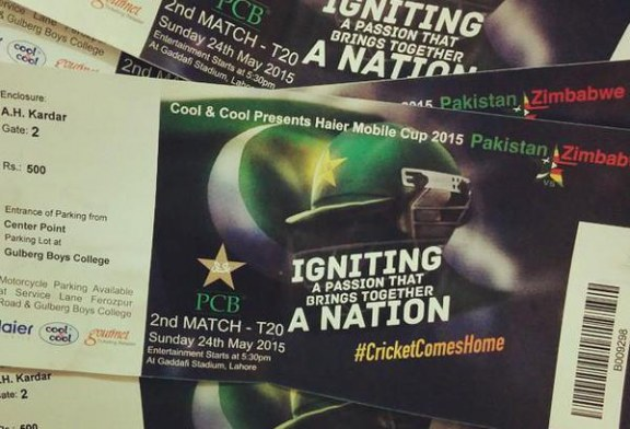 Pakistan Vs Zimbabwe Ticket Prices