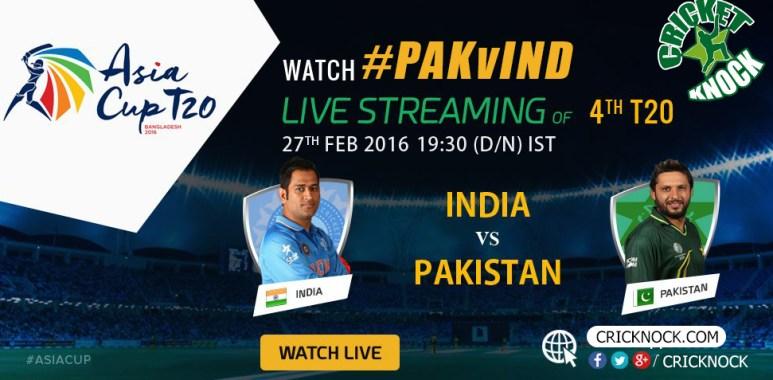 Pakistan vs India Asia Cup Live 2016