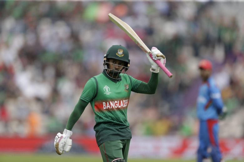 Bangladesh's Mushfiqur Rahim acknowledges the applause from the crowd as he walks off the field of play after losing his wicket