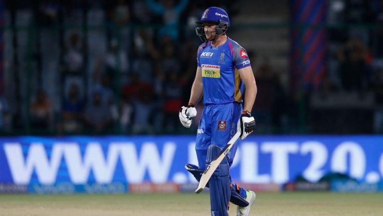 Rajasthan Royals' Jos Buttler walks back after being dismissed during VIVO IPL cricket T20 match against Delhi Daredevils