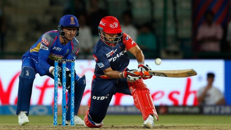 Delhi Daredevils' Rishabh Pant plays a reverse sweep during VIVO IPL cricket T20 match against Rajasthan Royals