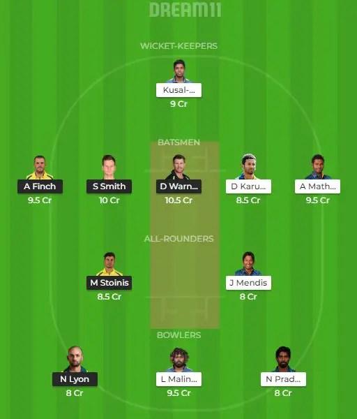 ऑस्ट्रेलिया vs श्रीलंका, ड्रीम टीम