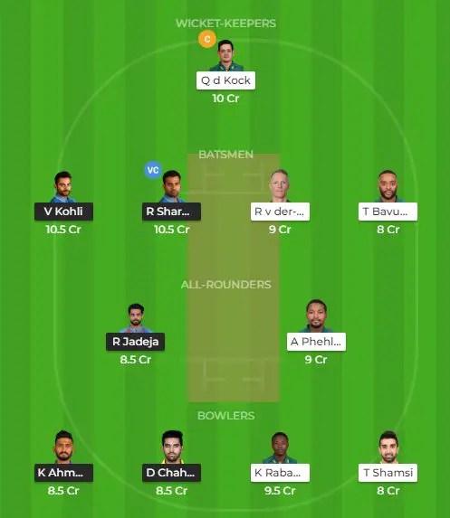 भारत vs दक्षिण अफ्रीका 3rd टी-20 मुकाबले की बेस्ट ड्रीम टीम