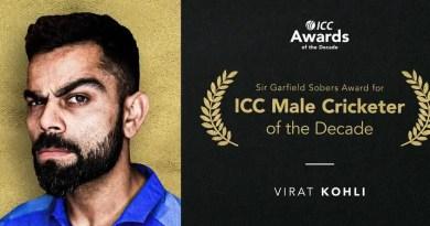 Virat Kohli: ICC Award of the Decade