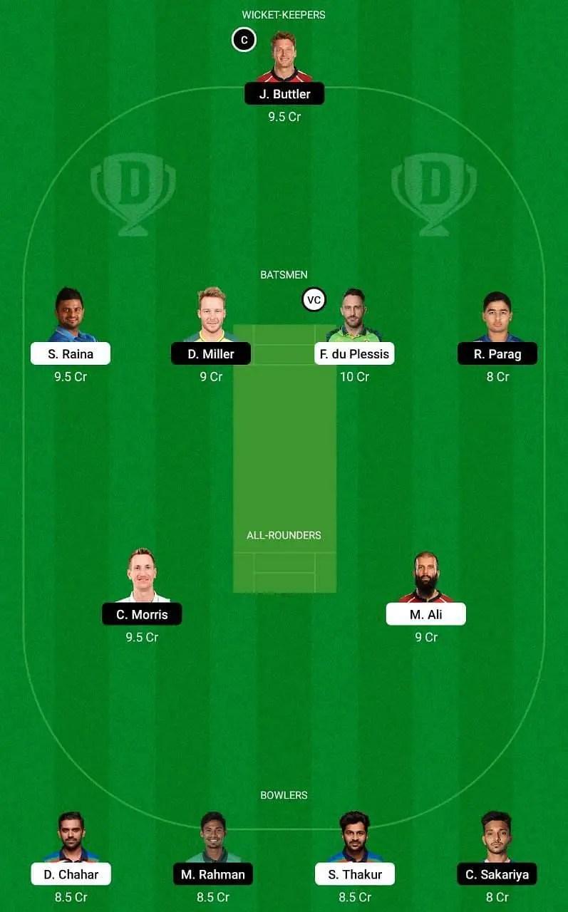 IPL 2021 12th Match CSK vs RR: Best Dream11 Team