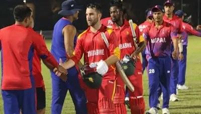 Zimbabwe defeats Nepal by 40 runs 1
