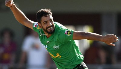 Haris Rauf claims 5-for against Hobart in BBL 8