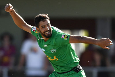 Haris Rauf claims 5-for against Hobart in BBL 3