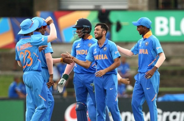 India advances to Semi-Final of the U19 World Cup after defeating Australia 1