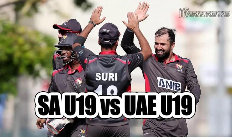SA U19 vs UAE U19 Live Score 23rd Match of U19 WC between South Africa U19 vs United Arab Emirates U19on 25 January 2020 Live Score & Live Streaming