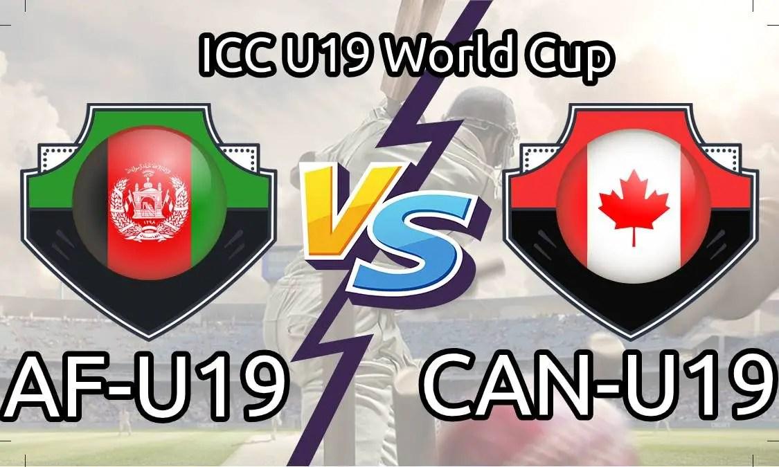 AFG U19 vs CAN U19 Live Score, 19th Match, Afghanistan U19 vs Canada U19 Live 1