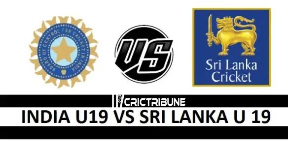 IND U19 vs SL U19 Live Score, India U19 vs Sri Lanka U19, 7th Match Live 2