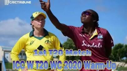 AUS W vs WI WLive Score 1st Match between Australia W vs West Indies W Live on 15 February 20 Live Score & Live Streaming