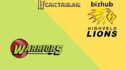 War vs LionsLive Score 10th ODI Match between Warriors vs Lions Live on 14 February 2020 Live Score & Live Streaming